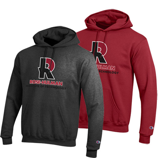 Champion Hooded Sweatshirt Charcoal or Cardinal