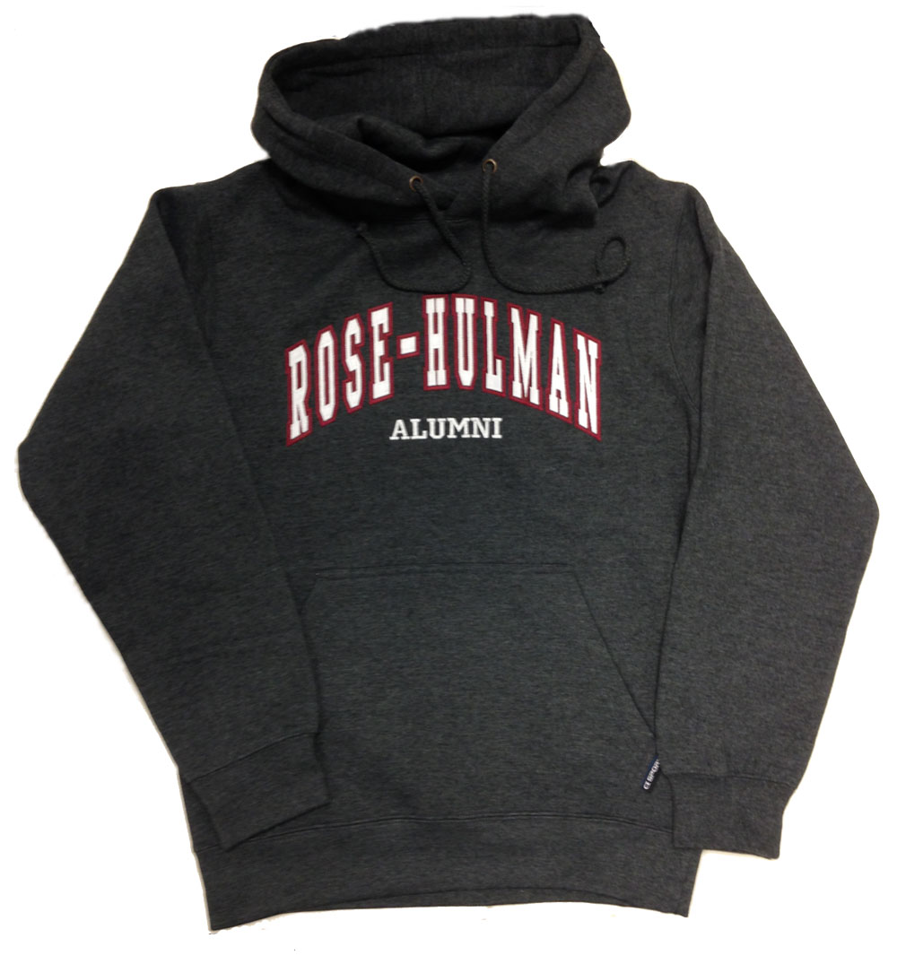 CI Hooded Charcoal Sweatshirt for Alumni