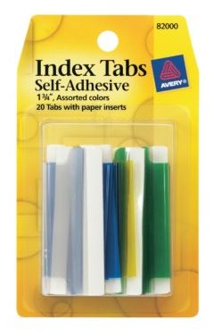 Avery Index Tabs
