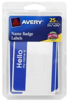 Avery Name Label Badges