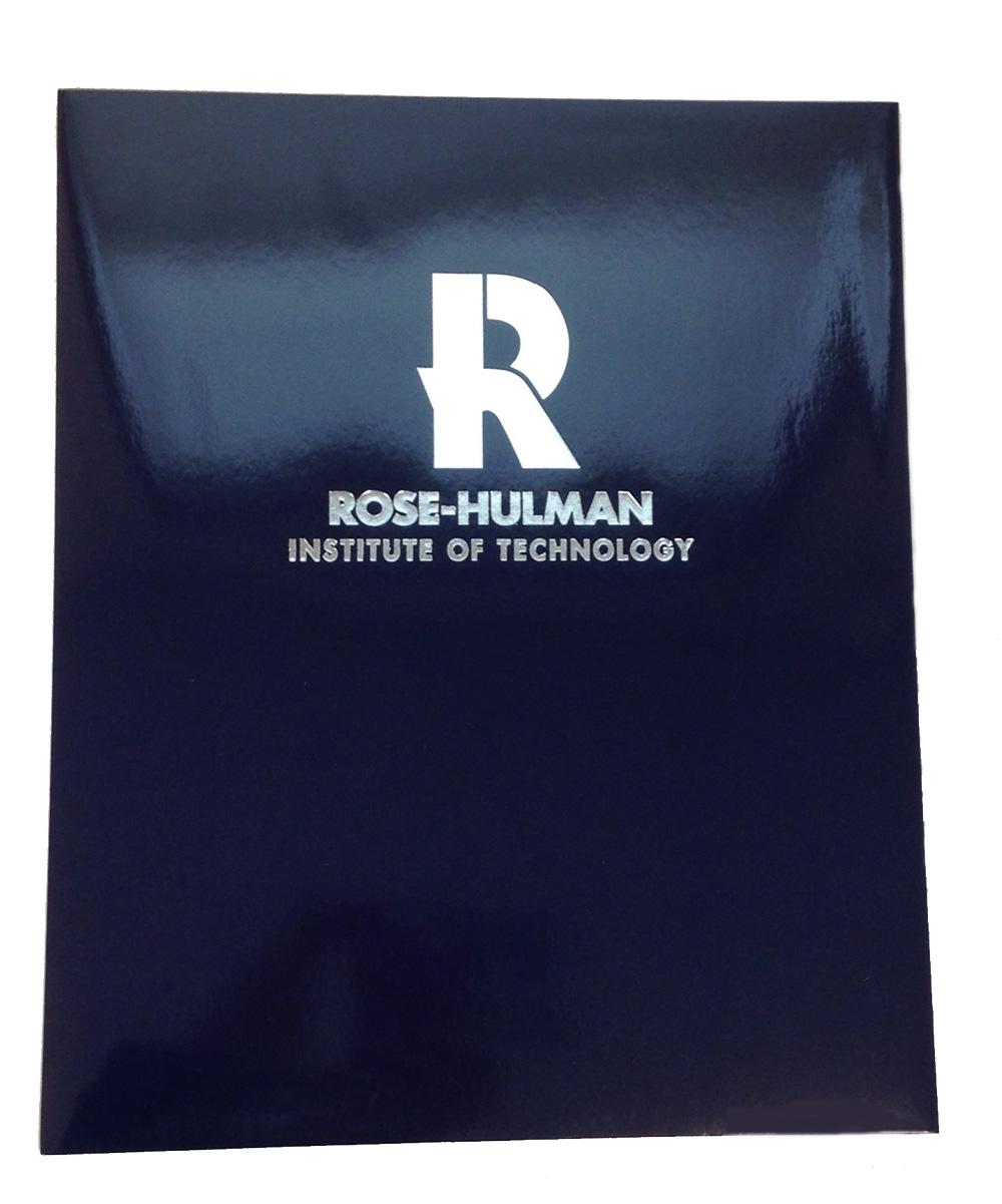 Roaring Springs Dark Blue Laminated Folder