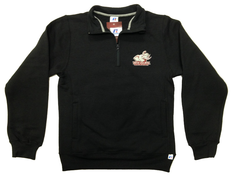 Russell Black 1/4 Zip Sweatshirt