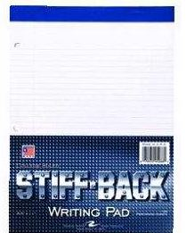 Cover Image For Roaring Spring Stiff Back White Writing Pad