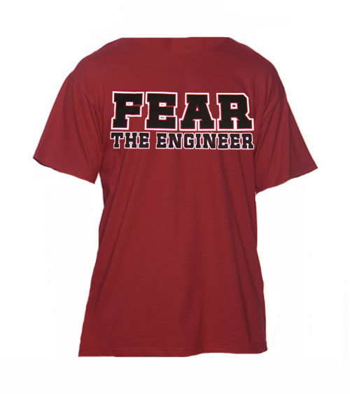 Image For J America Fear the Engineer T-Shirt