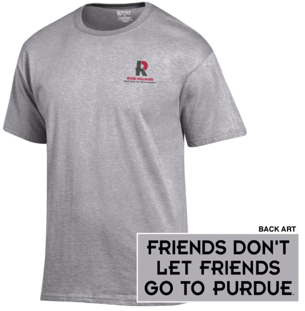 "Image For Gear T-Shirt ""Friends Don't Let Friends Go To Purdue"""