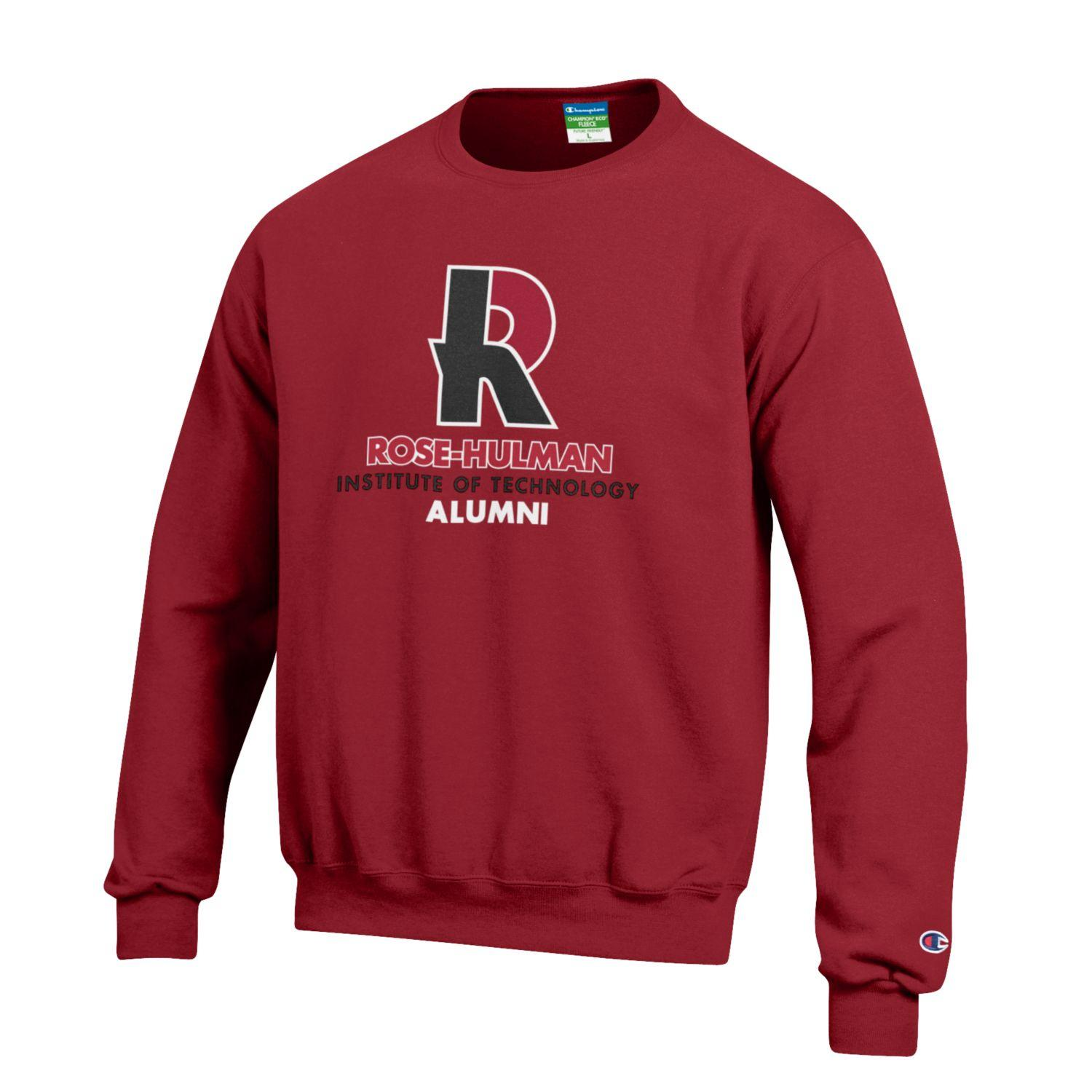 Image For Champion Cardinal or Charcoal Sweatshirt for Alumni