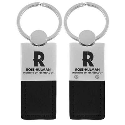 Image For LXG Leather and Metal Keytag