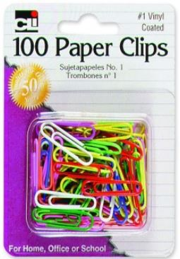 Image For CLI 100 Color Paper Clips