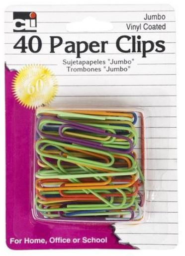Image For CLI 40 Color Paper Clips
