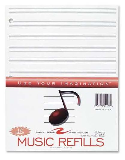 Image For Music Refill Paper