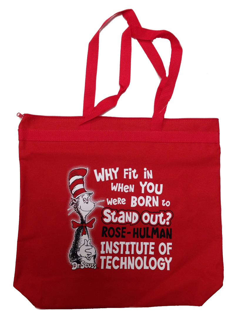 Image for Spirit Dr. Seuss Tote Bag in Red