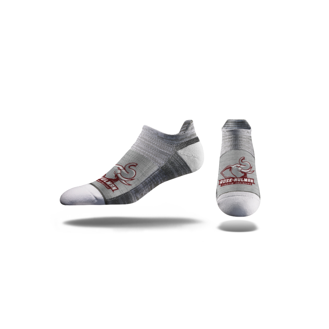 Image For Strideline No Show Grey Sock