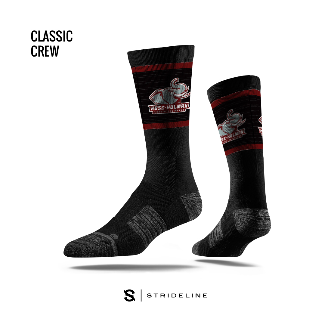 Image For Strideline Black Crew Socks