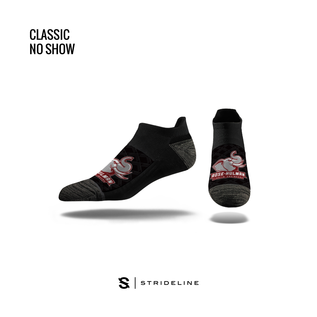 Image For Strideline No Show Black Sock