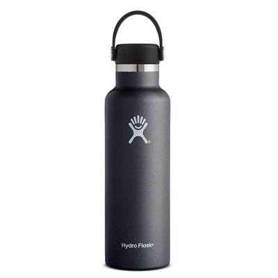 Image For Standard Mouth Hydro Flask 21 oz (Black)
