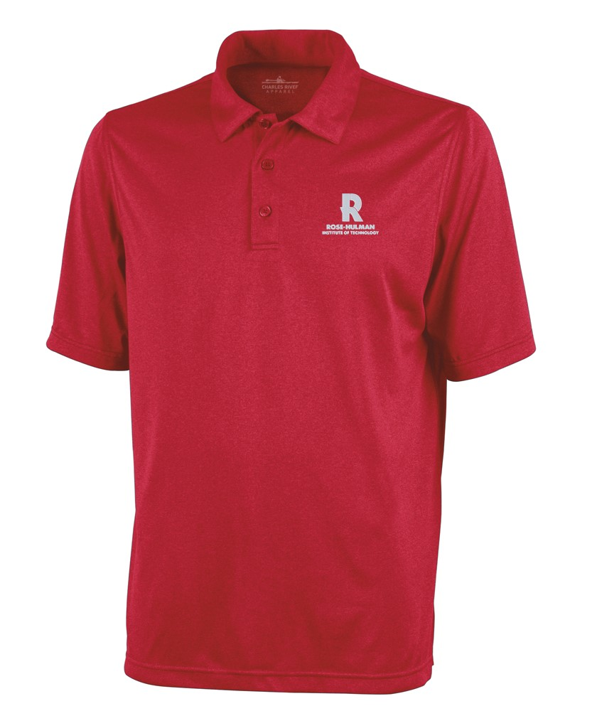 Image For Heathered Red Polo