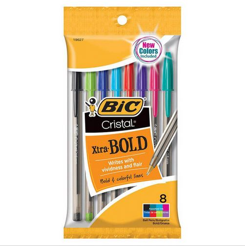 Image For BIC Cristal Xtra Bold Multi Color Pens