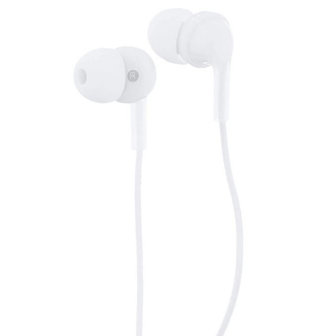 Image For Basic Wired Earbuds White